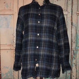 LRL Jeans Company~100% Cotton Plaid Flannel~M